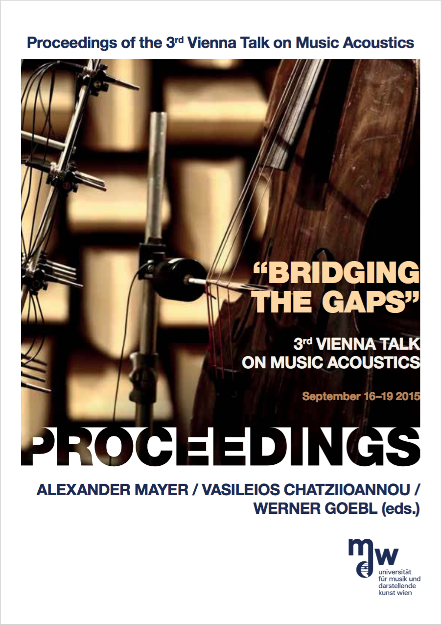 Proceedings of the Third Vienna Talk on Music Acoustics